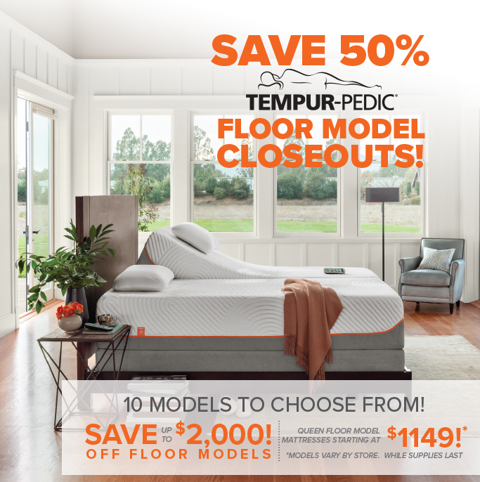 Tempur Pedic Closeout Mattress Warehouse