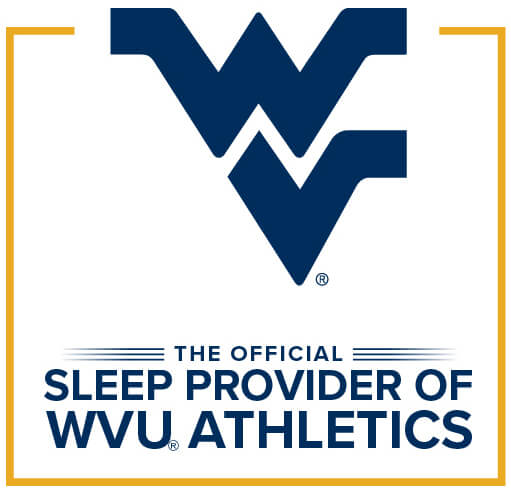 Badge: Sleep Outfitters/Mattress Warehouse, now official sleep provider for WVU